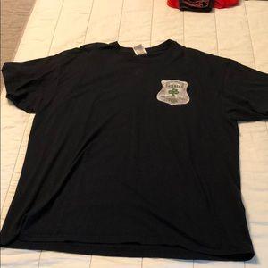 Black Ireland's Finest Police t-shirt 2XL